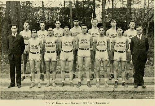 The University of North Carolina's Men's Basketball Team, 1929