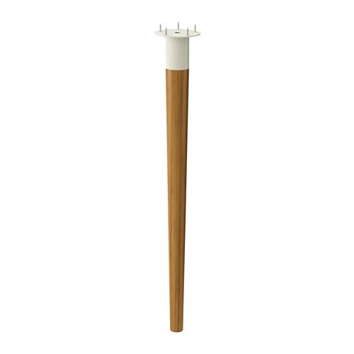 HILVER Leg cone-shaped IKEA Bamboo is a hardwearing natural material. Dip the bottom part of the legs in gold/brass spray paint.