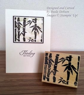 Bamboo carved by Paula DobsonBamboo Stampinup, Stamps Carvings, Paula Dobson, Undefined Bamboo, Stampinup Undefined, Bamboo Carvings, Inspiration Stampin Up, Undefined Stamps, Carvings Kits