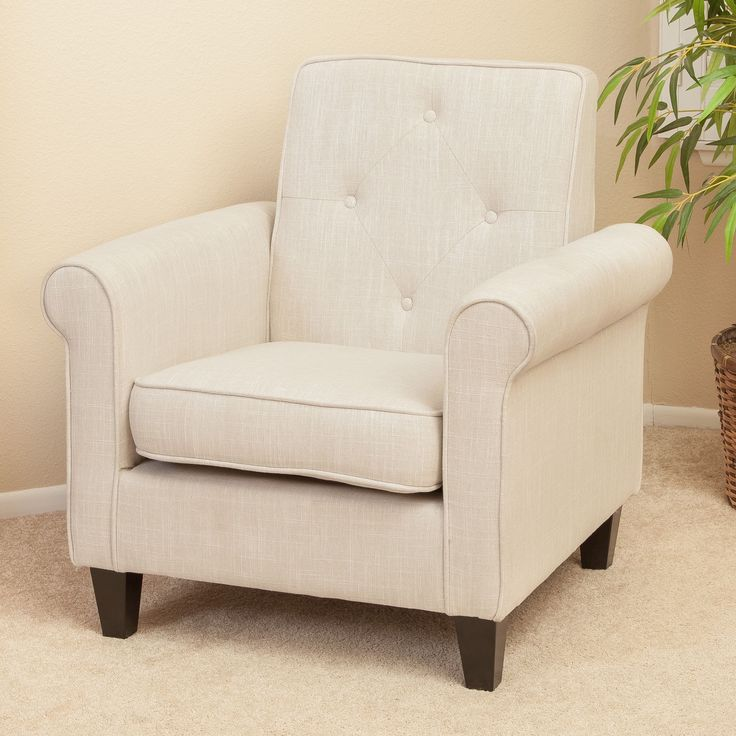 The Isaac Tufted Club Chair Allows Users To Relax In Style. Constructed In  Soft Fabric Part 52