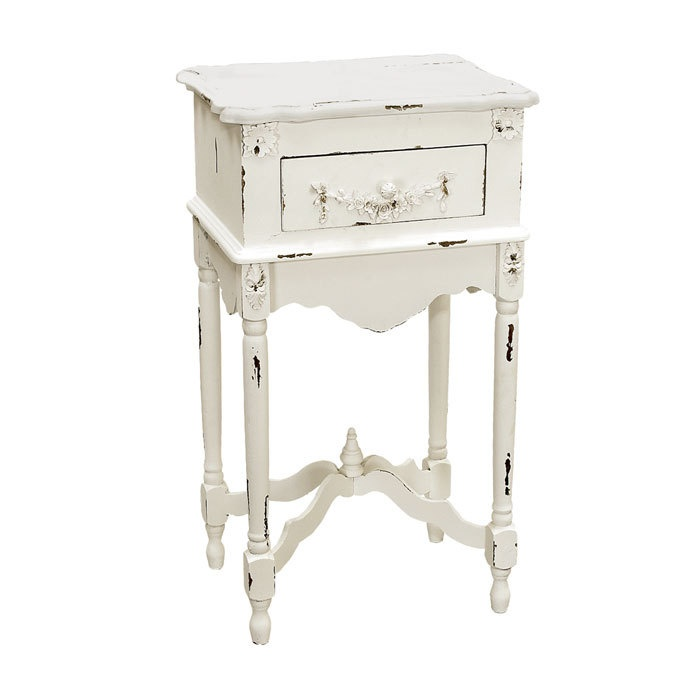 cute!: White Milkpaint, Amanda Side, White Finish, Decor Ideas, Side Tables, Shabby Chic, Events, Milkpaint Side, End Tables