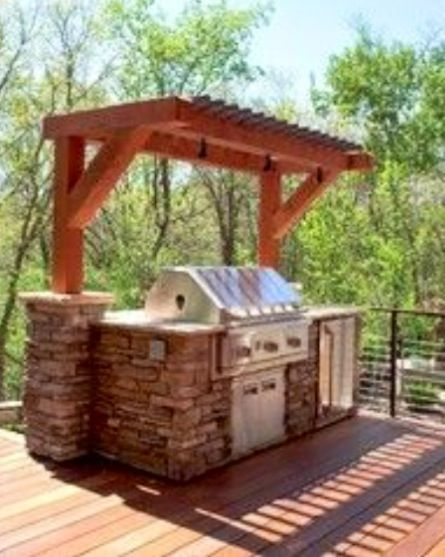 141 best images about outdoor kitchen patio deck on pinterest for Deck kitchen ideas