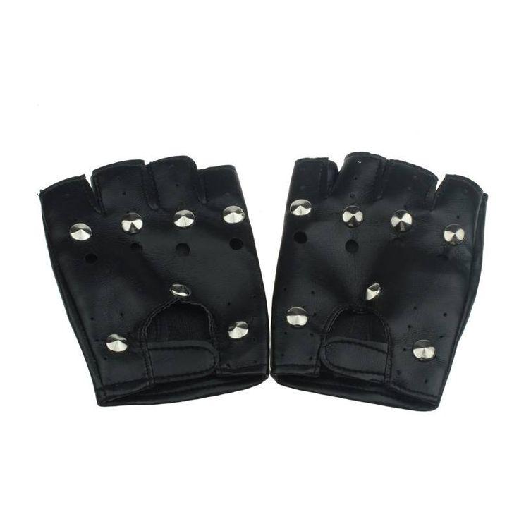 >> Click to Buy << High Quality Synthetic Leather Gloves Punk Rock Unisex Black Luvas Half Finger Goth Deri Eldiven Guantes De Cuero #OR #Affiliate