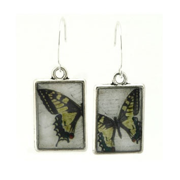 Double Sided Tiger Butterfly Earrings by Sally Forrester Handmade