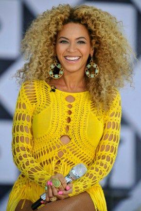 Beyonce natural curls