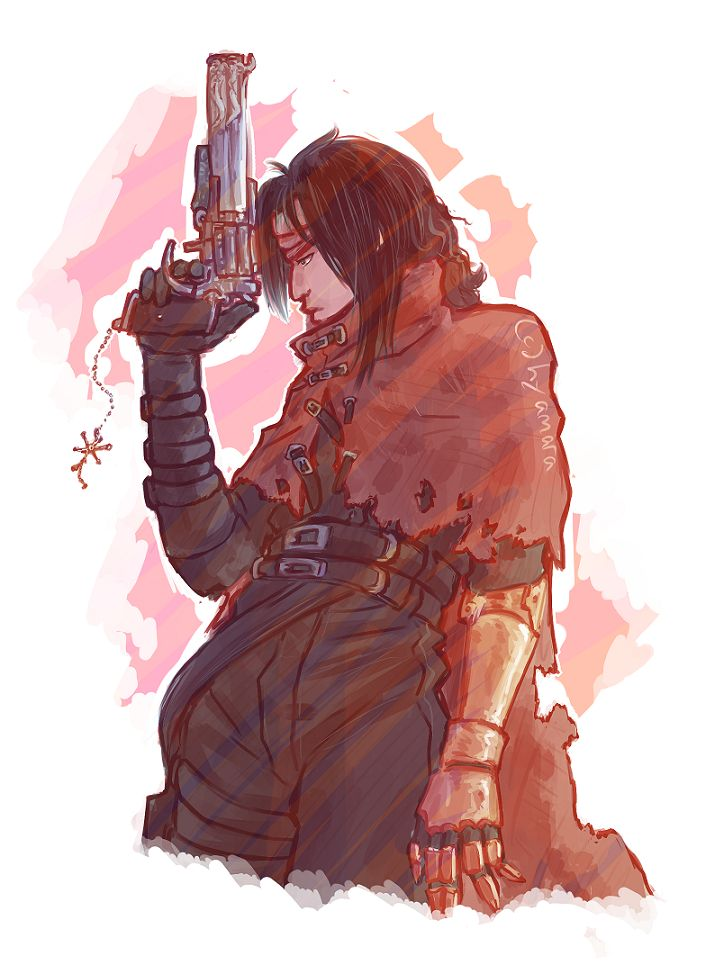 I Finished Dirge Of Cerberus Some Days Ago.      Final Fantasy VII (c)  Square Enix Vincent Doodle Thingy