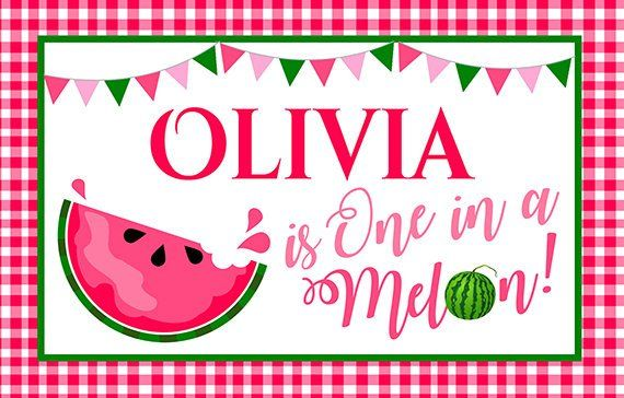 One In A Melon Personalize Custom Printed Birthday Backdrop Personalized Birthday Banners Birthday Backdrop Printed Birthday
