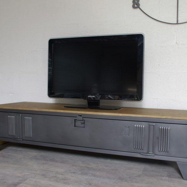 1000 id es sur le th me meuble tv style industriel sur for Meuble tv style loft