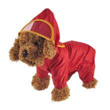 Pet perro sudadera con capucha chaqueta de la capa de lluvia nueva mascotas perros ropa impermeable impermeable sólido mono chubasqueros párr perros poncho ropa perro