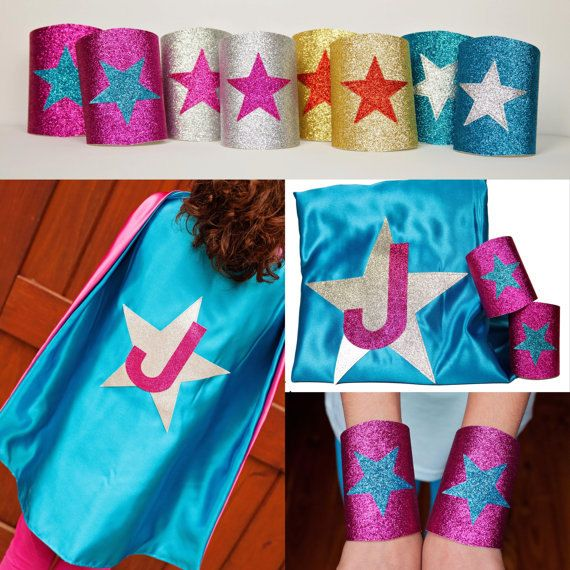 Custom Girls Costume Girls Super Hero Cape Set by CapesAndMore