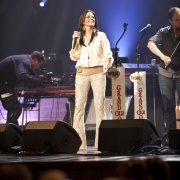 Every time I play the Opry it is a special moment. Shirt is Rory Beca and Pants are Georgie called the Ashley lace bell bottom.