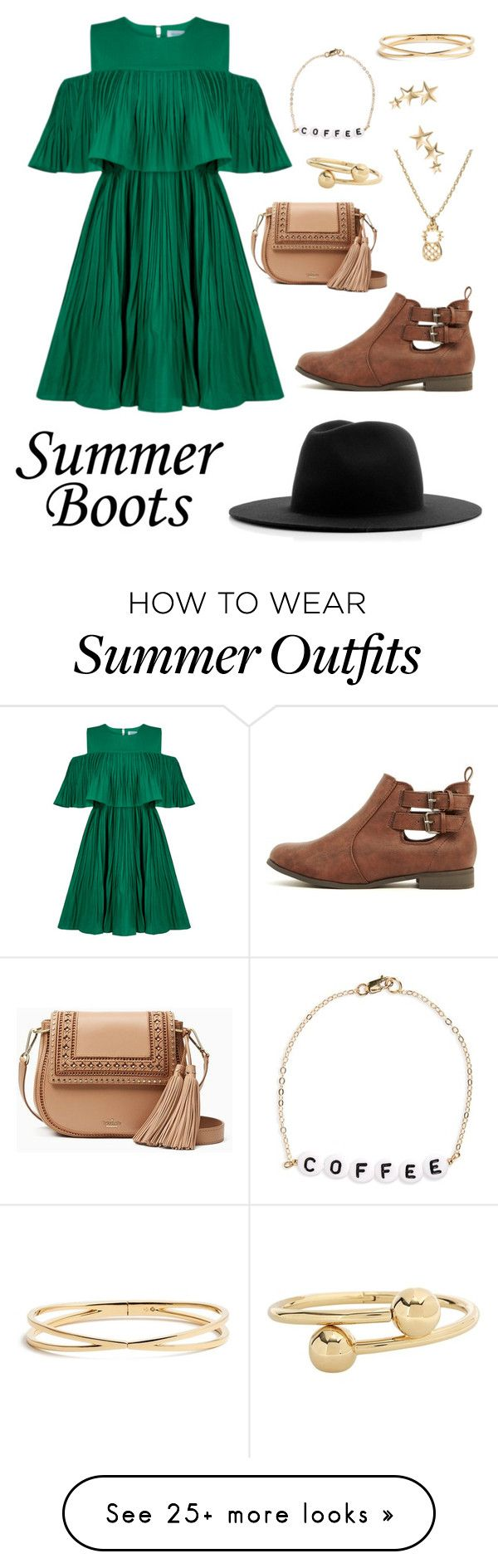 """""""Slightly Earth-toned Outfit"""" by gwabby on Polyvore featuring Jovonna, Kate Spade, Études, J.W. Anderson, Kenneth Jay Lane, Ryan Porter and Nadri"""