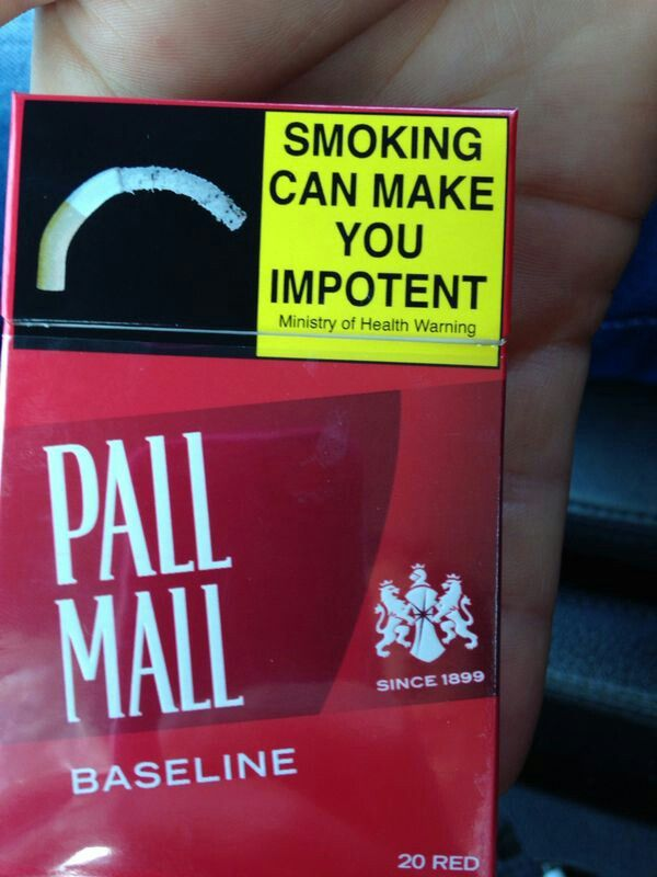 Smoking leading to impotence resulting in decrease of population