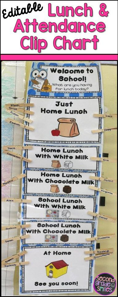 Take classroom attendance and keep track of the daily lunch count in a snap with this cute polka dot clip chart!  Completely editable and a huge time-saver!