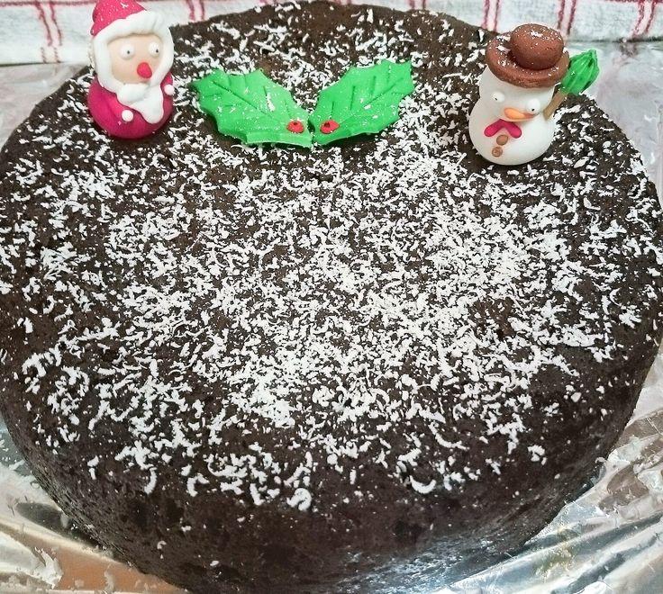 White Chocolate Snow Chrismas Cake (No Marzipan)