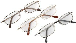 3 Pack Spring Hinge Metal Reader by WalterDrake by WalterDrake. $19.99. Unisex metal reading glasses with durable spring hinges come in a handy 3-pack of colors: chrome, gold and silver.
