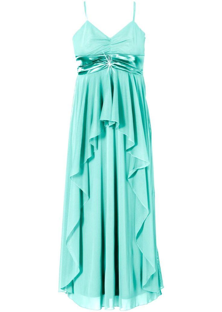 Bekijk nu:Elegante lange jurk met broche onder de buste. Lengte bij mt. 42ca. 132cm. 100%polyester; voering: 100%polyester.