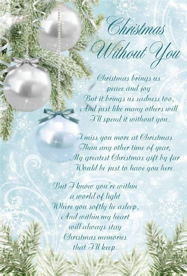 Pin By Pat Pawelek On Memories Christmas Poems Miss Mom Christmas In Heaven
