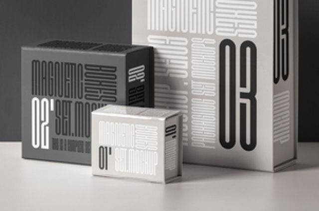 This Is A Luxury Set Of Magnetic Psd Packaging Box Mockup To