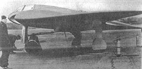 """No science fiction ... this Nazi UFO actually flew! Shown is a prototype of the Horten Ho 229, sometimes described as """"the first stealth jet"""", a German pure wing fighter/bomber that was built during the last weeks of WWII (1945)."""