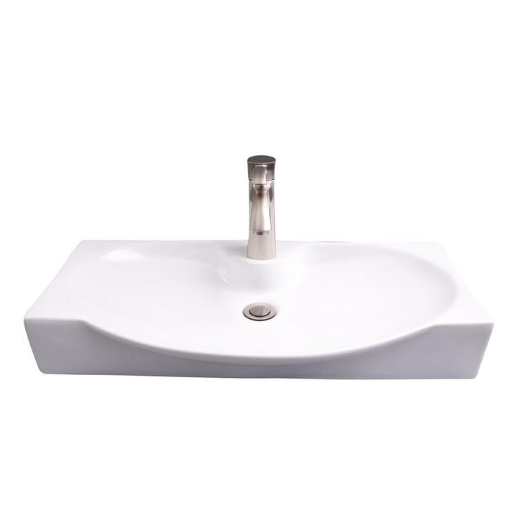 Barclay Wallace Wall Hung Basin White Wall Mount Rectangular Bathroom Sink 13 5 In X 27 37 In Lowes Com Rectangular Sink Bathroom Wall Mounted Sink Basin