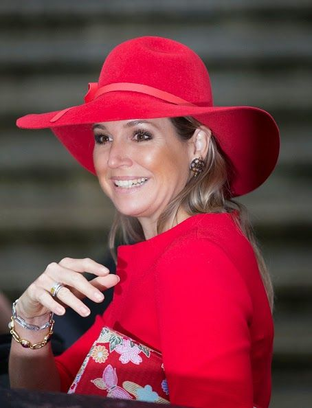 Queen Maxima of The Netherlands leaves after attending a symposium marking 40 years of the protection of women against domestic violence on 14.10.2014 in Amsterdam, The Netherlands
