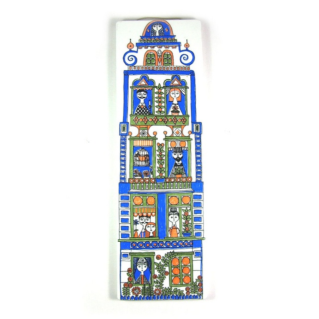Arabia, Finland town house wall plaque by Wooden donkey, via Flickr