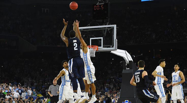 Villanova and University of North Carolina meet in college basketball's 2016 NCAA National Championship - final seconds at the buzzer ...Villanova wins for the Championship Title.