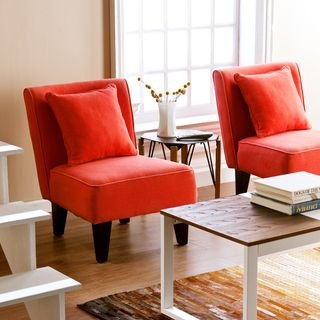 Holly & Martin Purban Red-Orange Slipper Chairs (Set of 2) | Overstock.com Shopping - Great Deals on Chairs