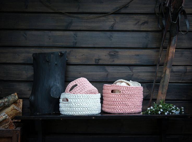 #virkkaus #handwork #virkattukori #crochetbasket #koukkujapuikko #hookandneedle