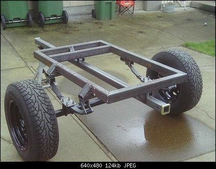 jeep trailer build -Carreta trailer, simple y pequeña. un buen diseño de piso,baranda y señalización y listo.
