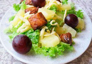 Рецепт №1: Тайский салат с ананасом и индейкой. №1 Recipe: Thai salad with pineapple and turkey.
