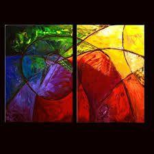 cuadros abstractos modernos decorativos tripticos dipticos google search