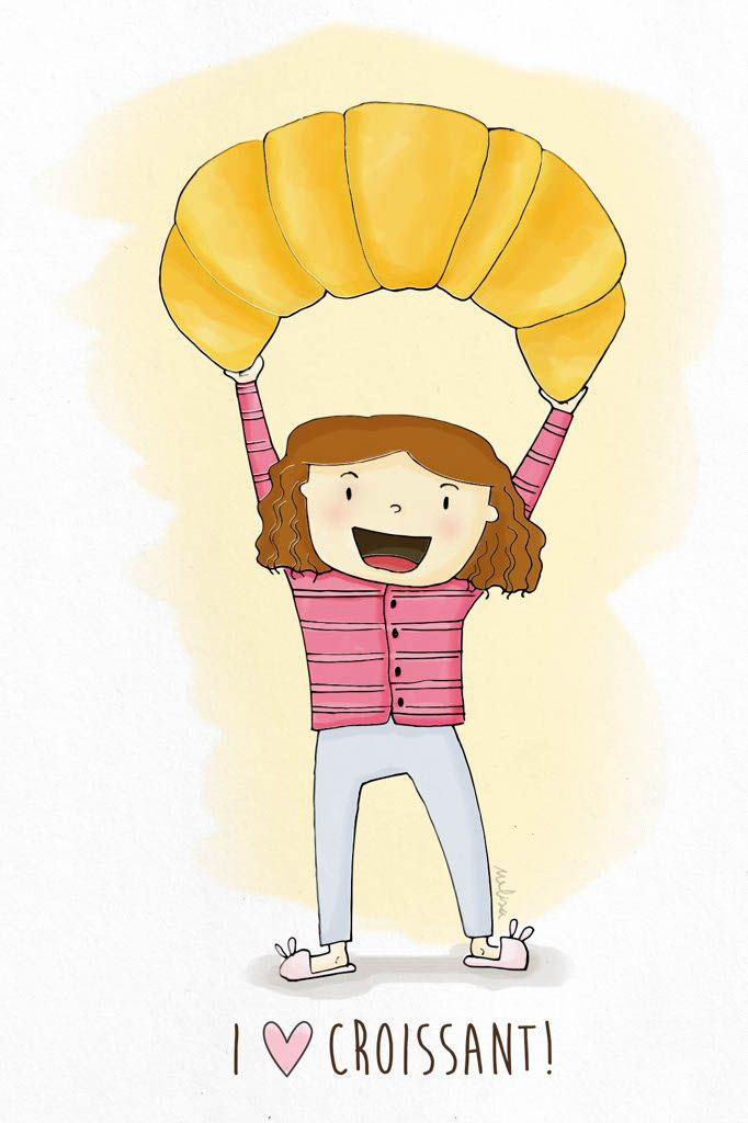 #croissant #breakfast #ilustracin   Melisa Navarro