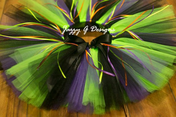 Plum Black & Neon Green Witch Tutu Adult Witch by JazzyGDesigns