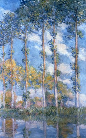 Poplars (1881) by Claude Monet
