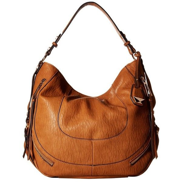Jessica Simpson Kendall Hobo (Cognac) Hobo Handbags ($108) ❤ liked on Polyvore featuring bags, handbags, shoulder bags, hobo purse, hobo shoulder handbags, hobo handbags, white hobo handbags and hobo hand bags