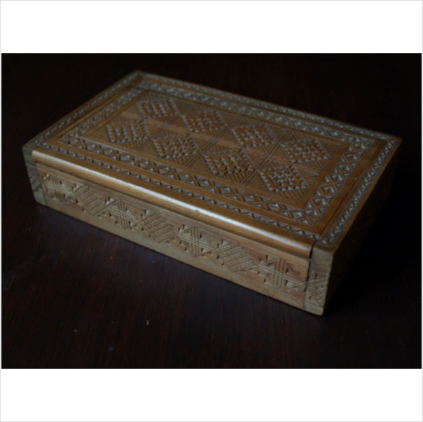 WOODEN BOX FOR STAMPS. ANTIQUE on eBid United Kingdom