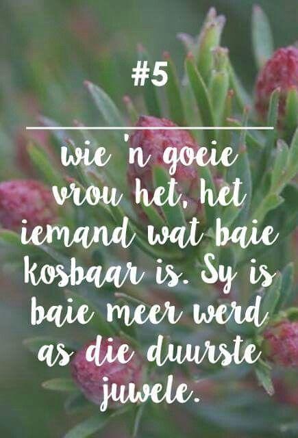 __[Fynbos Vrou/FB] # 5 - 'n goeie vrou - #Afrikaans