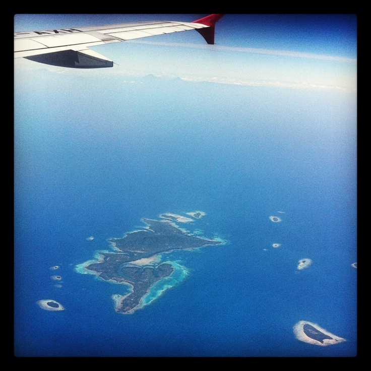 Flying over Indian Ocean