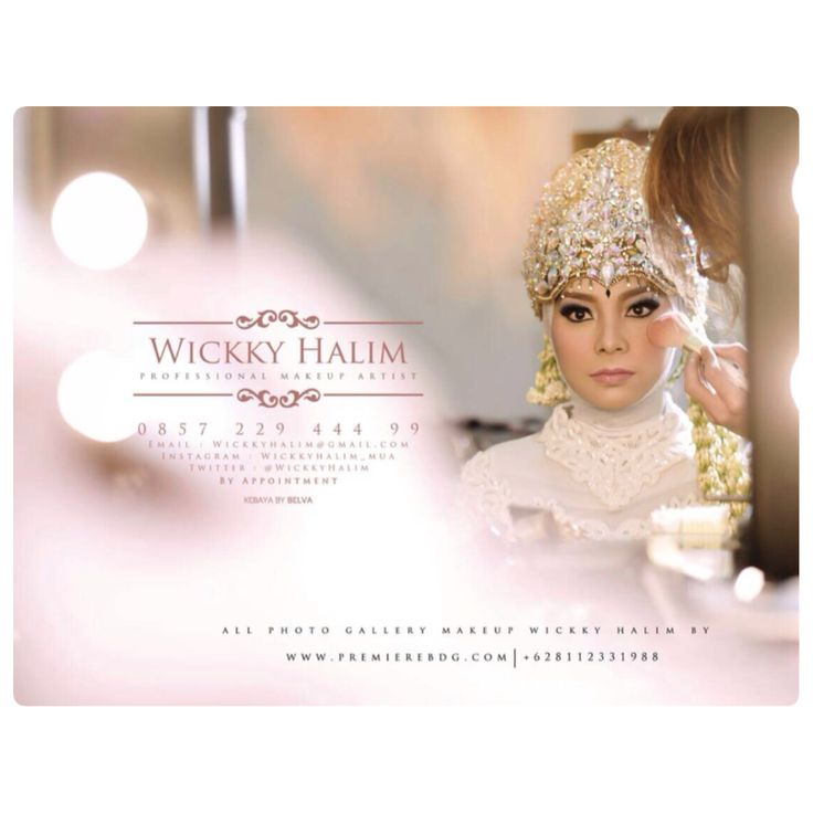 Moeslim make up wedding by wickky halim make up artist
