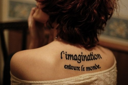 Sexy Small Quote Tattoos for Girls - Cute Black Back Small Quote Tattoos for Girls #quote #tattoo www.loveitsomuch.com