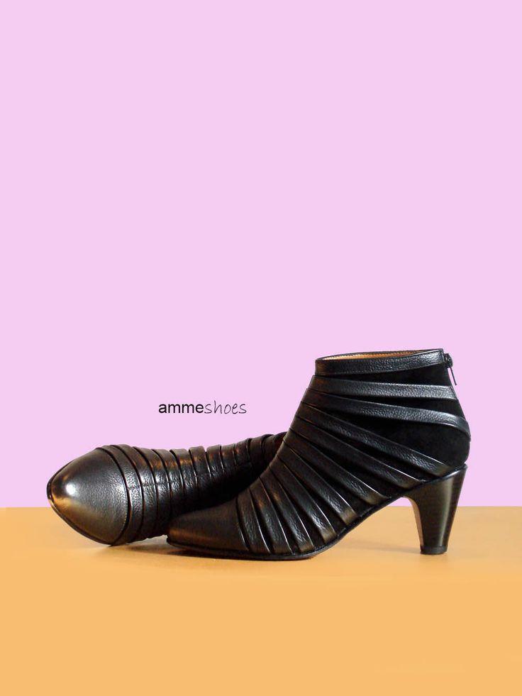 Zapatos gamuza y cuero #tacones #zapatos #mujer #diseño