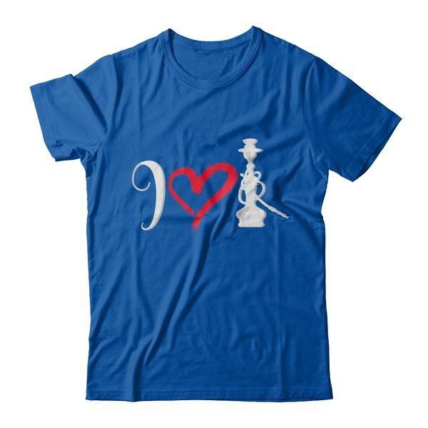 Men And Woman's Funny I Heart Hookah Smoke T Shirt Costume