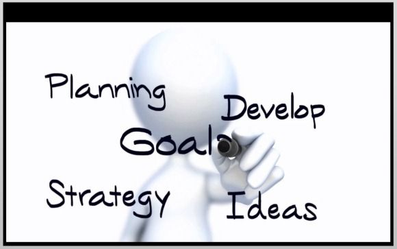 Write an outline, in sentence format, describing how an agency determines goals and objectives. Instead of lis?