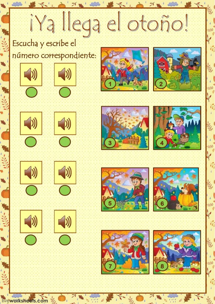 El otoño interactive and downloadable worksheet. Check