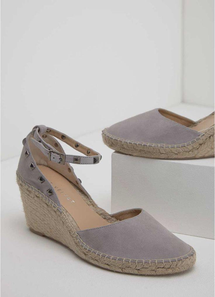 ORLA GREY ESPADRILLE WEDGE | Mint Velvet