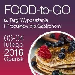 3 - 4 lutego 2016 r. odbędą się 6. targi Wyposażenia i Produktów dla Gastronomii FOOD-to-GO w Gdańsku: http://www.nocowanie.pl/6--targi-wyposazenia-i-produktow-dla-gastronomii-food-to-go-w-gdansku.html