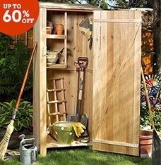 From garden get-togethers to backyard barbecues, a lot can happen outside of your home. Organize yard tools and more with storage sheds and deck boxes, and put flora on display with stylish trellises and greenhouses. Porch swings, firepits, and grills let you have a little fun once the yard work is done.