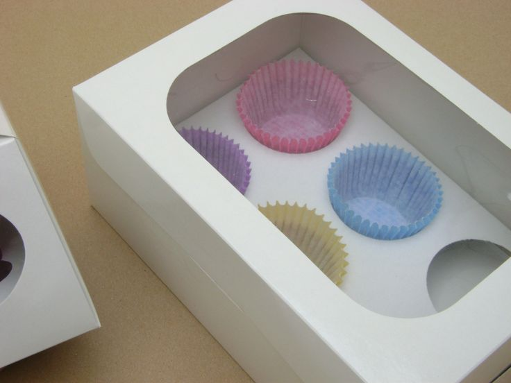 Cajas especiales con ventana exhibidora. Presentación con interior troquelado para separar los Muffins Formatos individuales y de media docena. Presentación Largo Ancho Altura Individual 12 cm. 12…